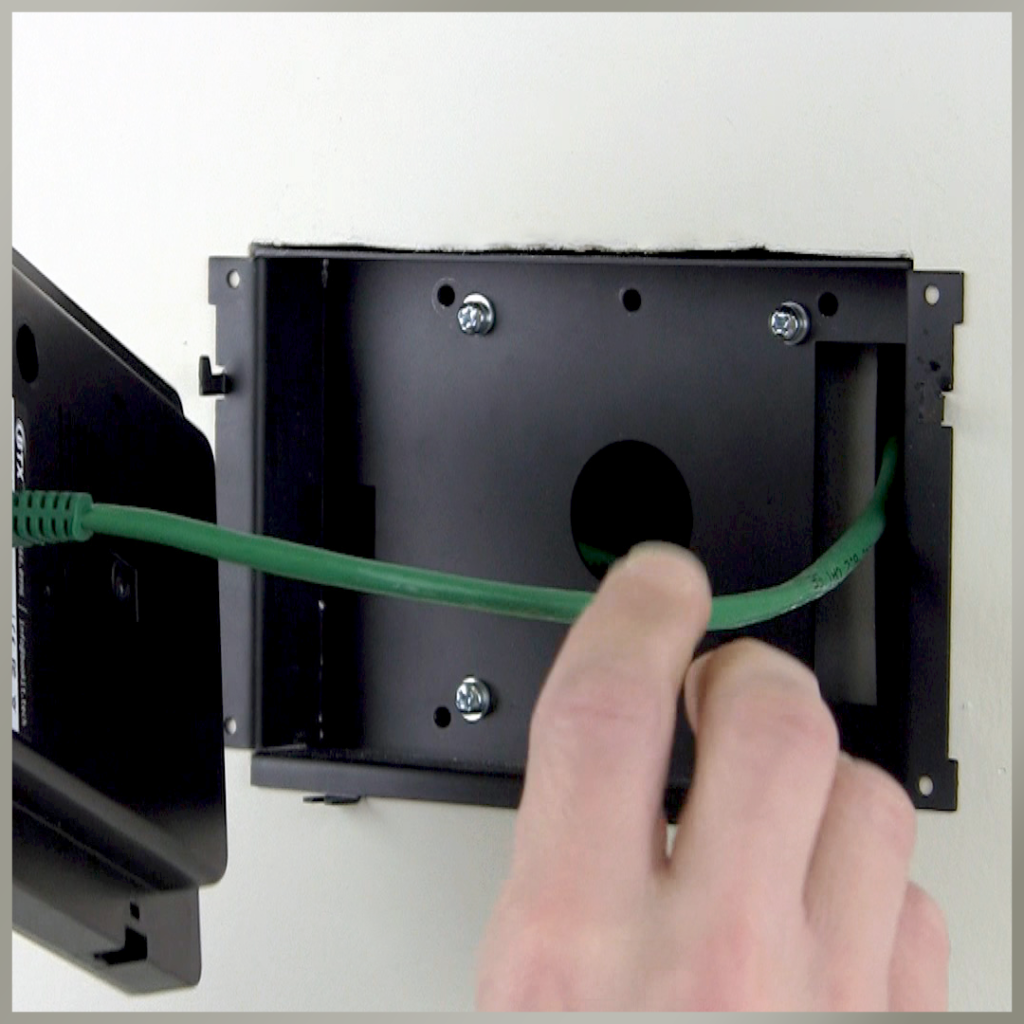 BookIT Room Scheduling System has a variety of mounting solutions. This one features the recess mounting bracket.